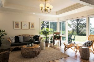 sunroom with chairs