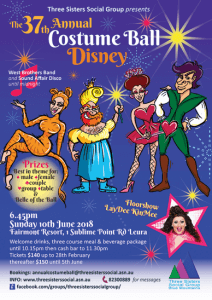 poster advertising the costume ball