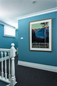 hallway with picture frame